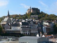 Blick über MR-Mitte auf Altstadt und Schloss. Foto Rainer Kieselbach